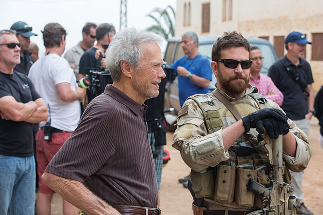 Bradley Cooper e o diretor do filme, Clint Eastwood, venerado por muitos (inclusive meu marido).