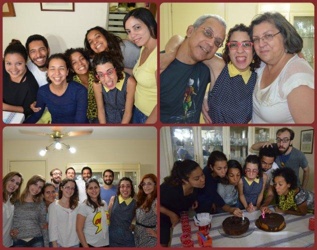 Momentos da festa. Primos e irmãs de coração, papi e mami, amigos lindos e a loucura que é a hora do parabéns na minha família.
